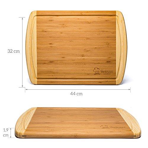 Compra Tabla de cortar de bambú ecológico EXTRA GRANDE - La mejor tabla de  cortar con surco para la cocina en Amazon.es 518a504ddf20