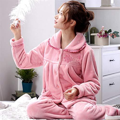 Franela Larga Suave Invierno Xxl Doméstico Para Manga Coral Terciopelo Juegos Baijuxing Pijama 2 Otoño Cálido E De Servicio Informal Mujer OqwO4A