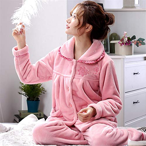 2 Invierno Larga Servicio Baijuxing E Suave Informal Xxl Cálido De Para Franela Otoño Manga Coral Juegos Terciopelo Mujer Doméstico Pijama TRTWczvA7