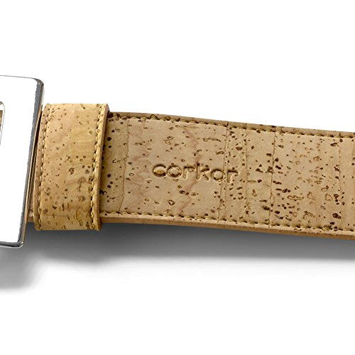 Corkor Women's Cork Belt 40mm Wide Vegan Product Natural Color Small Size