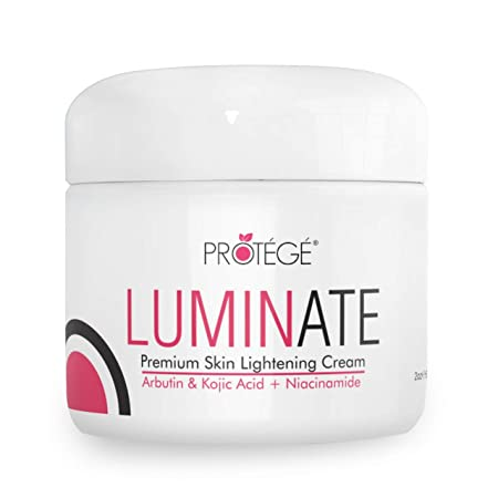 Skin Lightening Cream – Luminate- 100 Natural Skin Bleaching for Underarm, Body, Face, Intimate and Sensitive Areas – Whitening with Arbutin Kojic Acid Niacinamide for Women and Men – 2oz