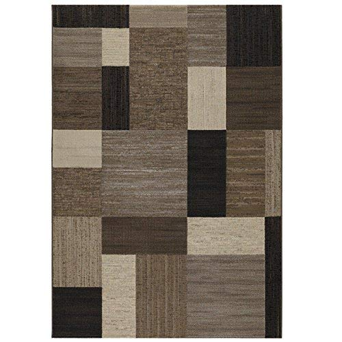 Couristan Everest 6303/4343 Rug, 9-Feet 2-Inch by 12-Feet 5-Inch, Geometrics/Brown-Multi