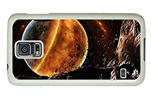 Hipster Samsung Galaxy S5 Case carry Fire Planet PC White for Samsung S5 by runtopwell