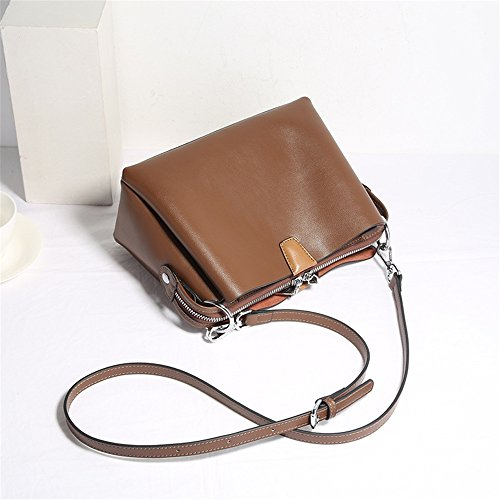 Hombro Crossbody para Bolso Bolso Hombro Color Messenger de de Caqui o de Mujer Simple Cuero Monedero Bag de Xuanbao Retro Bolso Cartera de Hombro 7qtBxF1wv