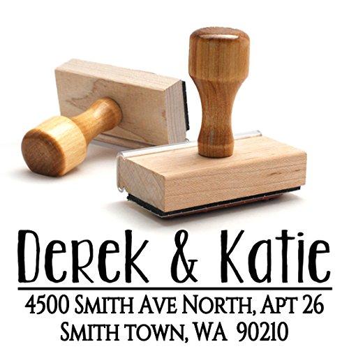 Wood Stamper, Custom Personalized Wooden Handle Return Mail Address Stamp – Brilliant Gift for Family, Newlyweds, Bridal Shower, Teacher or (Wood Stamper)