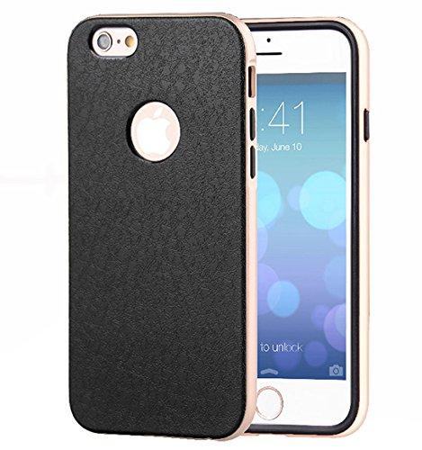 Monkey Cases® iPhone 6 Plus / 6s Plus - GOLD Leder Chrom Case - Handyhülle - Aluminium Schutz Cover