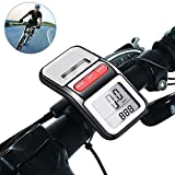 LEDMEI Solar Bicycle Speedometer and Odometer Wireless Waterproof with LCD Display & Multi-Functions