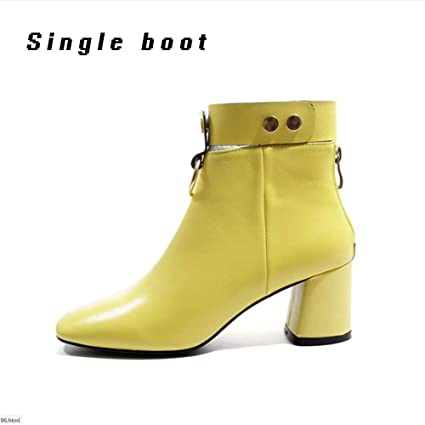 33e7d5ecca35 XUE Women's Shoes Leatherette Winter Fashion Boots/Formal Shoes Boots  Chunky Heel Pointed Toe Zipper