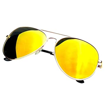 75ca5487736fb Image Unavailable. Image not available for. Color  19StyleDollar - Fashion  Gold Red Frame Retro Pilot Aviator Sunglasses Style Vintage Mirror  Polarized Lens ...