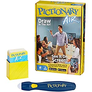 Mattel Games Pictionary Air - Navy Pen Version w/ 30% Unique Cards [Amazon Exclusive]