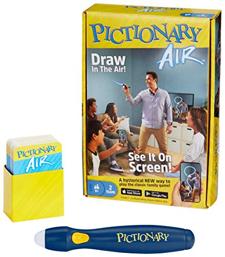 Mattel Games Pictionary Air - Navy Pen Version with 30 Unique Cards [Amazon Exclusive] (Games For Adults To Play At Home)