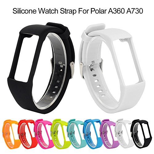 Sue Supply Universal Silicone Watch Straps Soft Rubber Replacement Watch Bands for Polar A360 A370 GPS Unisex Multiple Colors Watches and Smartwatches Accessories