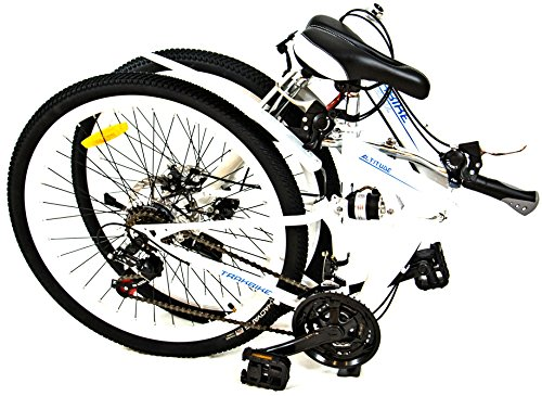 Trakbike Altitude compacto montaña plegable para bicicleta | BLANCO | 21 velocidades Shimano | FRENOS DE DISCO: Amazon.es: Deportes y aire libre