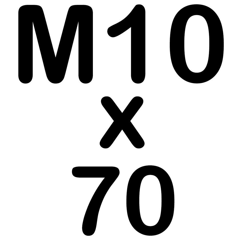 50 Zylinderkopfschrauben M10 x 60 Edelstahl mit Innensechskant Zylinderschrauben DIN 912 A2