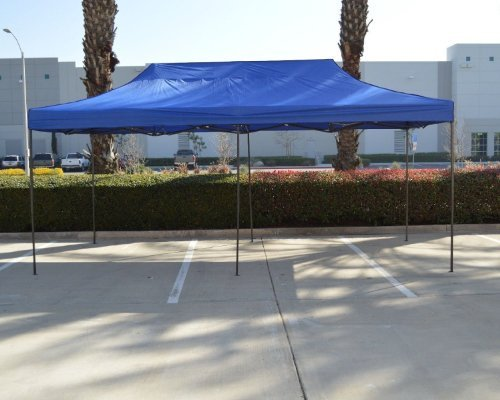 Blue Canopy Gazebo - American Phoenix Canopy Tent 10x20 foot Blue Party Tent Gazebo Canopy Commercial Fair Car Shelter Wedding Party Easy Pop Up
