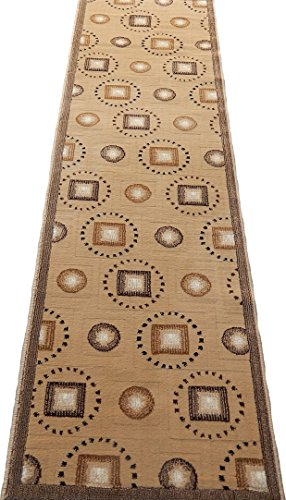 Persian Modern Woven 2x8 Area Rug Runner Beige/Tan Actual Size 2 x 7'2 by KJGRUG