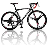 Outroad Road Bike 700c 14 Speed 26 inch 3 Spoke Commuter Bicycle (Black/White)