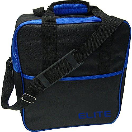 Elite Bowling Basic Single Tote Bowling Bag (Black/Blue)