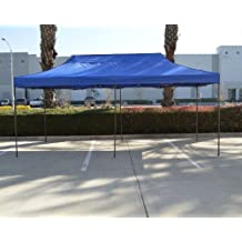 American Phoenix Canopy Tent 10x20 foot Blue Party Tent Gazebo Canopy Commercial Fair Car Shelter Wedding Party Easy Pop Up