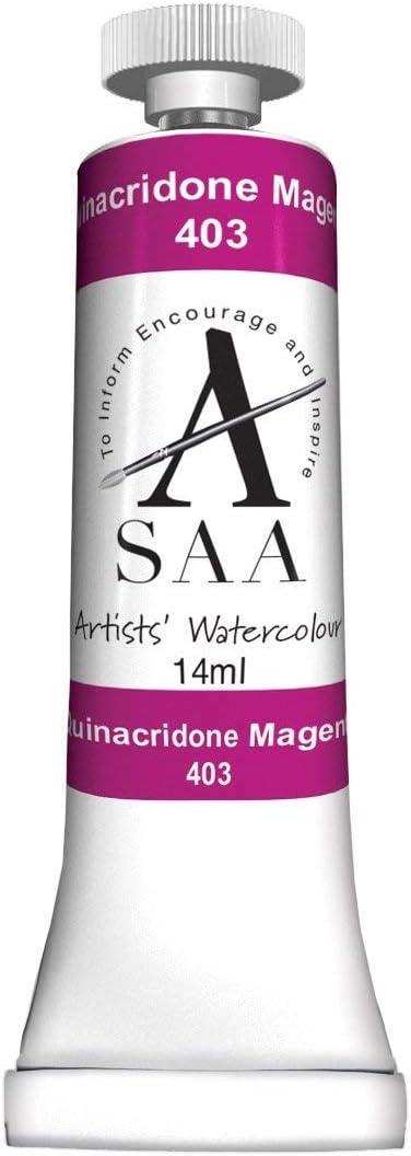 SAA Artists Watercolour Quinacridone Magenta 14ml