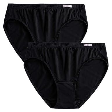 7062eca8d8fd wirarpa Women's Ultra Soft Modal Knickers High Leg Microfibre Pants  Underwear Plain Black Briefs 2 Pack