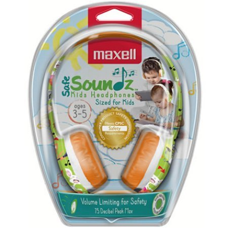 Safe Soundz Kids Headphones Green/Orange