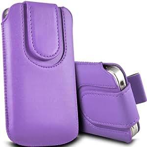 ONX3 HTC Desire 200 Leather Slip protectora magnética de la PU de cordón en la bolsa de la liberación rápida (púrpura)