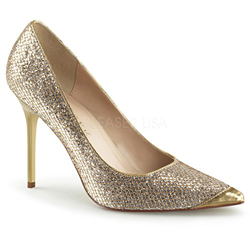 Pleaser Gold Pumps da Fabric Classique Donna Lame Glittery 20 1qZPqO