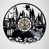 unique nursery ideas Harry Potter - Magic School Hogwarts - Handmade Vinyl Record Wall Clock - Quidditch - Snitch - Get unique nursery room or bedroom wall decor - Gift ideas for kids – Fantasy Movie Unique Design