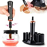 Electric Makeup Brush Cleaner and Dryer Kit with 8 Rubber Holders, Makeup Brush