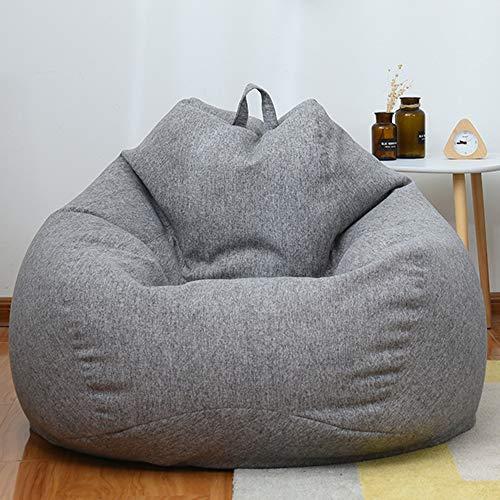 RIYIFER Puf Gigante Funda De Puff, Bean Bag Bazaar Pano Suave, Transpirable Y Resistente Al Desgaste Cubierta De Sofa Lounge Gaming Chai,Dark Gray,100 * 120CM