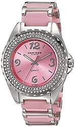 Akribos XXIV Women's AK514PK Ceramic Crystal Bracelet Watch