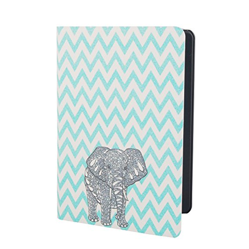 """VAMVAZ Fashion Cute Elephant Design Silk Pattern PU Leather Full Body Protector Case Cover Skin For 6"""" Amazon Kindle Paperwhite"""