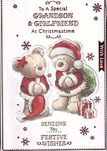To a Special Nieto y novia en Navidad tarjeta