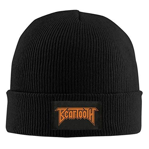 ErnestBates Beartooth Beanie Men Women - Unisex Cuffed Plain Skull Knit Hat Cap Black
