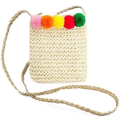 Abuyall Femmes Sac De Paille Arc Mignon Crochet Sling Creux Dentelle Plage D'¨¦t¨¦ Sac ? Main D'¨¦paule De Paille Sac ? Main Pt12