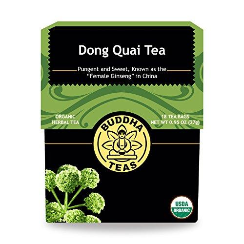 - Organic Dong Quai Root Tea - Kosher, Caffeine Free, GMO-Free - 18 Bleach Free Tea Bags