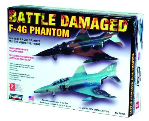 Lindberg Models Battle Damaged F-4G Phantom 1/72 Building for sale  Delivered anywhere in USA