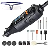 Cheap SPTA 110V 130W Variable Speed Electric Dremel Rotary Tool, Dremel Style Mini Drill with Safety Glasses and 15Pcs Accessories, for Cutting, Engraving, Grinding, Sanding