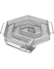 Navaris Kallröksgenerator av rostfritt stål – 17 x 22,5 x 4,5 cm – M form sparbkant kallröksgenerator för röktugn – kallrök rökgenerator