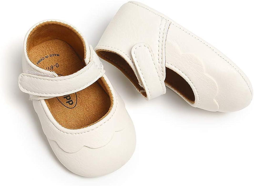 Zapatos Bebe Niña Recién Nacido Primeros Pasos Zapatos Bebé Princesa Suela Blanda Antideslizante Blanco 0-6 Meses: Amazon.es: Zapatos y complementos