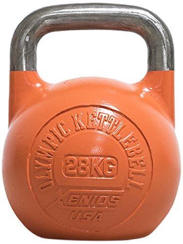 Xenios USA Stahl Russische Girevoy Kettlebell-28 kg-Orange, XSSTOKBL28