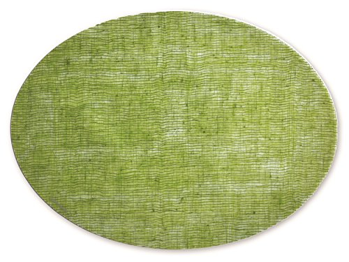 modern-twist Silicone Placemat, Linen Patern, Green Apple