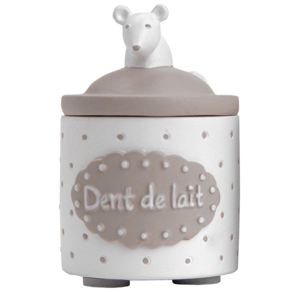 Petite boite à dents de lait blanche Funny Pets