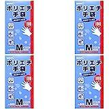 【まとめ買い】826 ポリエチ手袋M 100枚入【×4個】