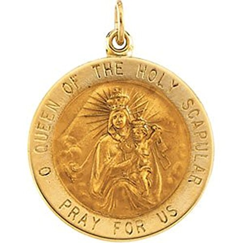 14K Yellow Gold Scapular Medal (14k Medal Scapular Gold Yellow)