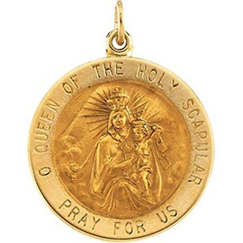 14K Yellow Gold Scapular Medal (14k Yellow Scapular Medal Gold)