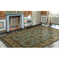 Ottomanson Royal Collection Traditional Oriental Floral Design Area Rug, 710 X 910, Seafoam