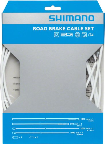 SHIMANO PTFE Road Brake Cable and Housing Set (White)