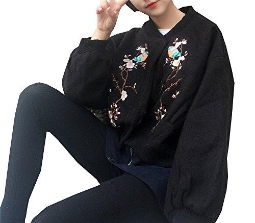 Abrigo Mujer COCO clothing Larga Manga Negro para Universidad Snq57wqB